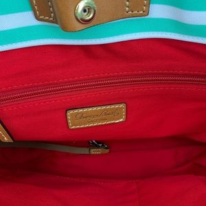 Dooney & Bourke Bags - nwt | Dooney & Bourke Seafoam Striped Shopper